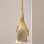 sculpture inspired by the ancient cycladic sculpture , produced by Greek contemporary artis Eleni Kolaitou